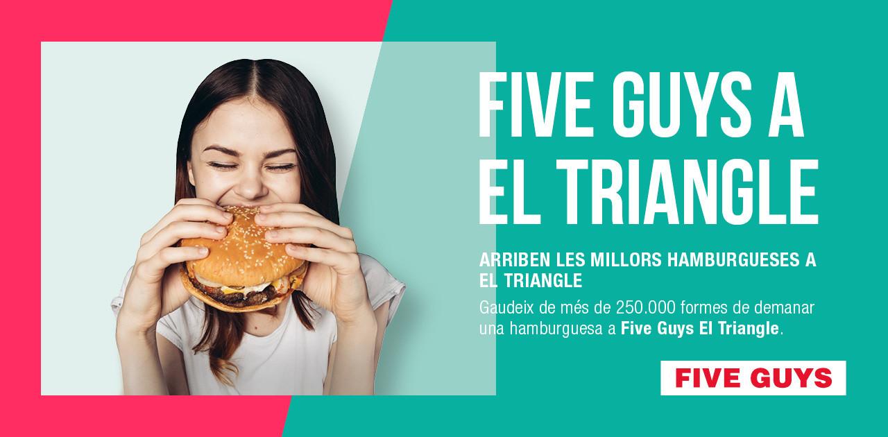 FIVE GUYS A EL TRIANGLE