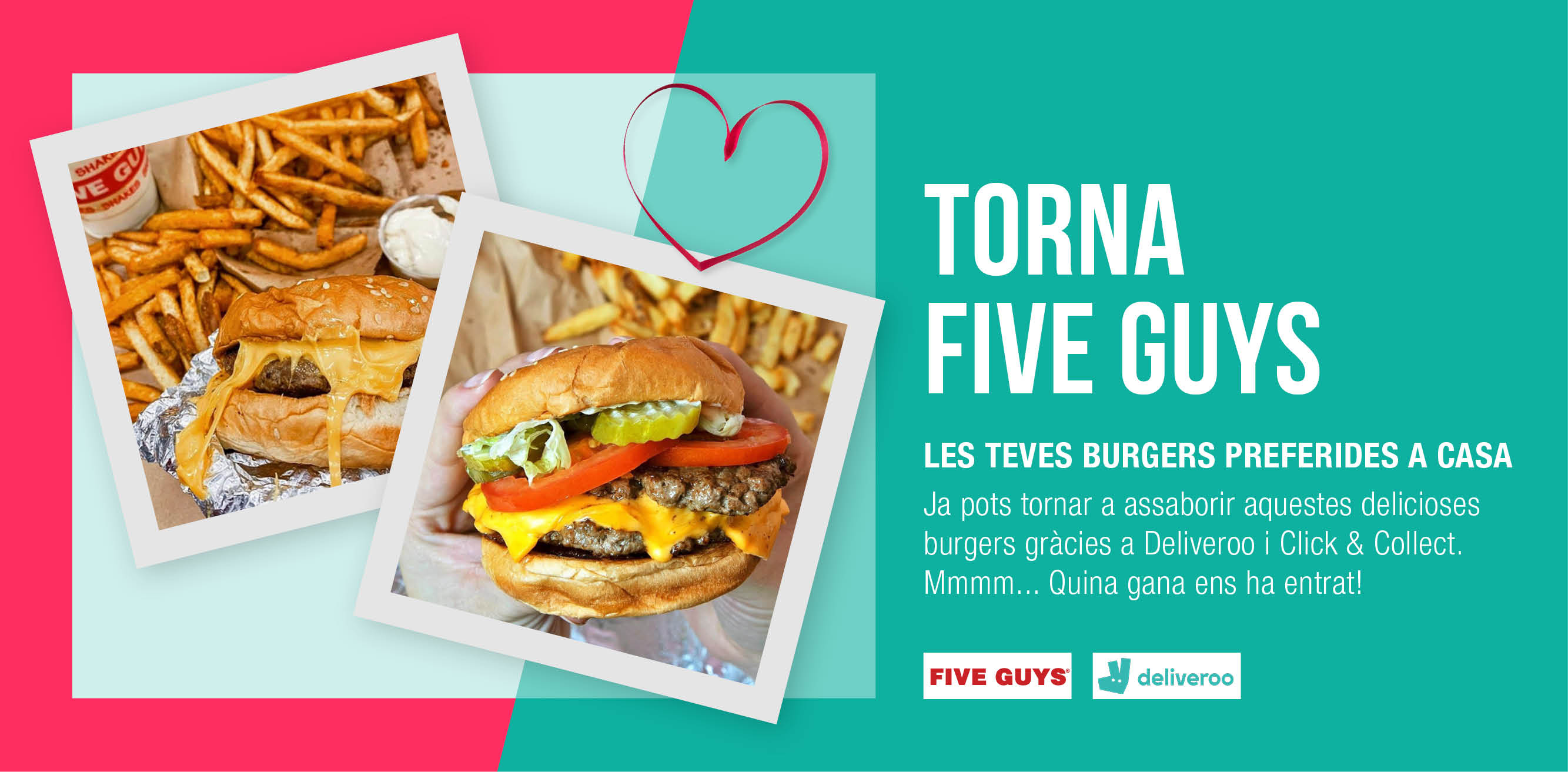 SERVEI DELIVERY AMB FIVE GUYS