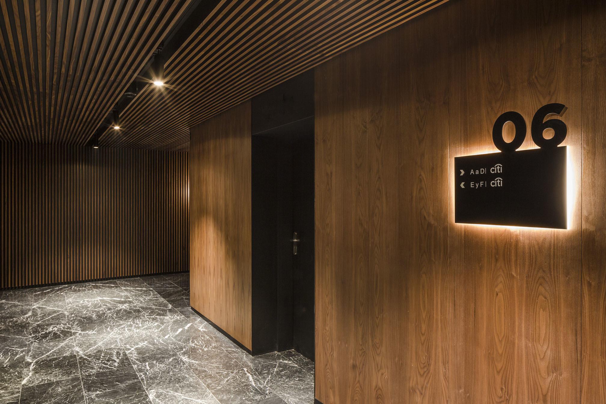 Office corridor view