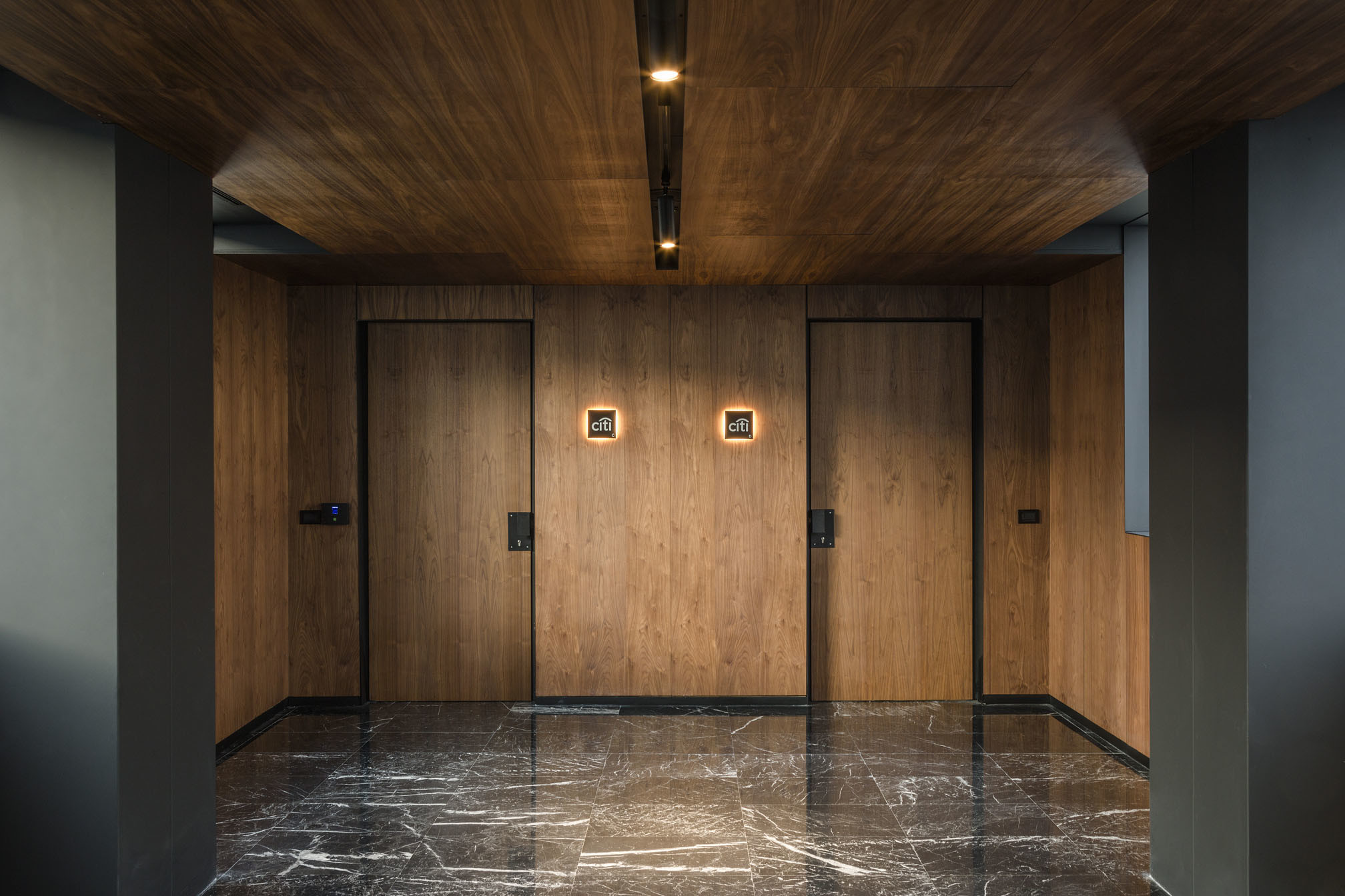 Doors with card reader